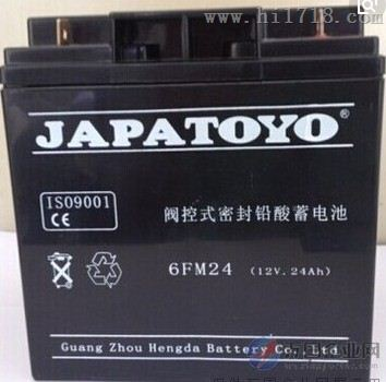 JAPATOYO东洋蓄电池6GFM24 厂家12V24AH
