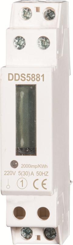 1P单相导轨式电能表计数器显示液晶轨道卡规安装厂家直销