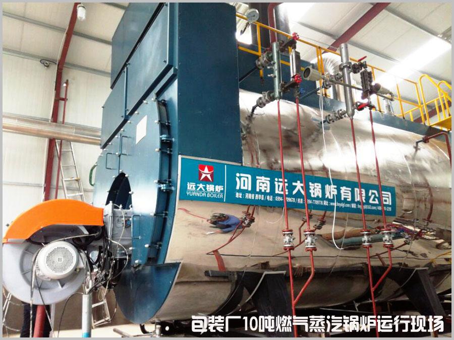10吨燃气蒸汽锅炉包装厂.jpg