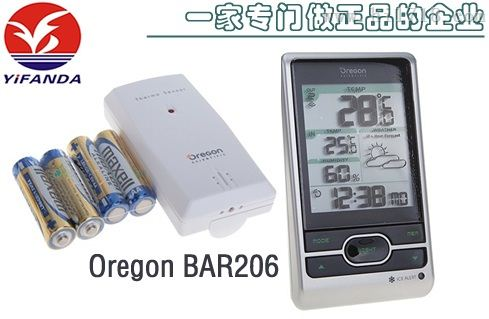 正品Oregon BAR206欧西亚天气预报室内外温湿度计