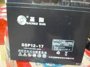 圣阳蓄电池SSP12-17热销