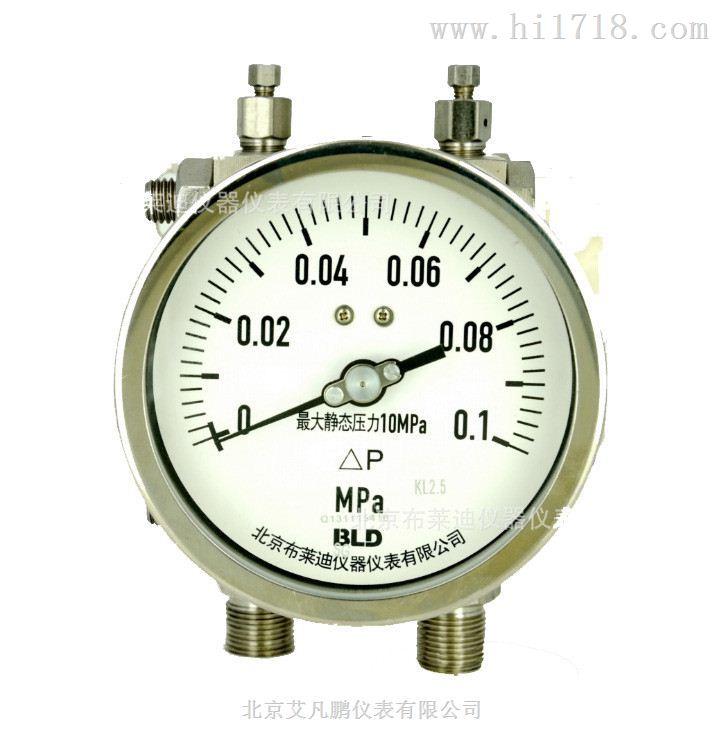 北京艾凡鹏代理 双膜片式高静压差压表