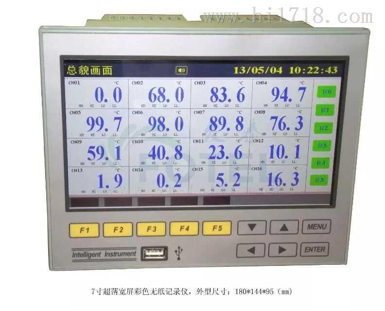 发泰FTR7000超薄宽屏无纸记录仪