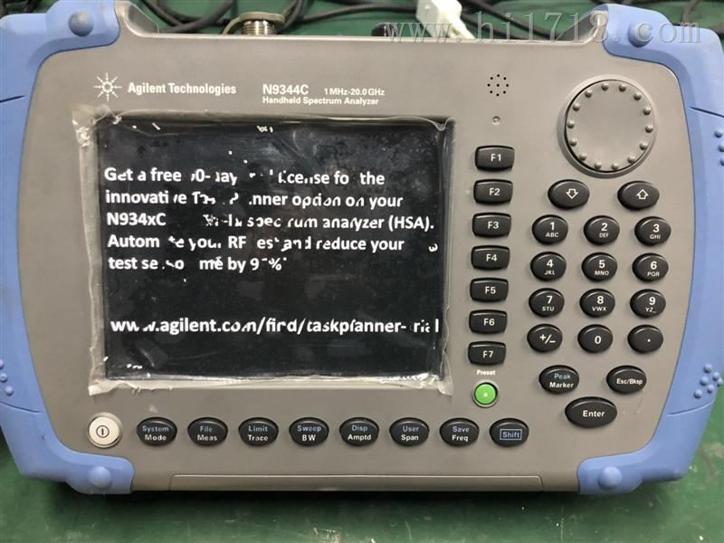 是德科技N9344C手持频谱分析仪