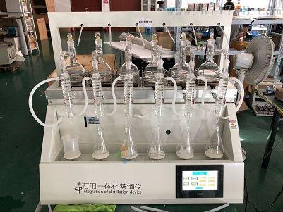 一体化智能蒸馏仪JTZL-6二氧化硫测定仪湖北