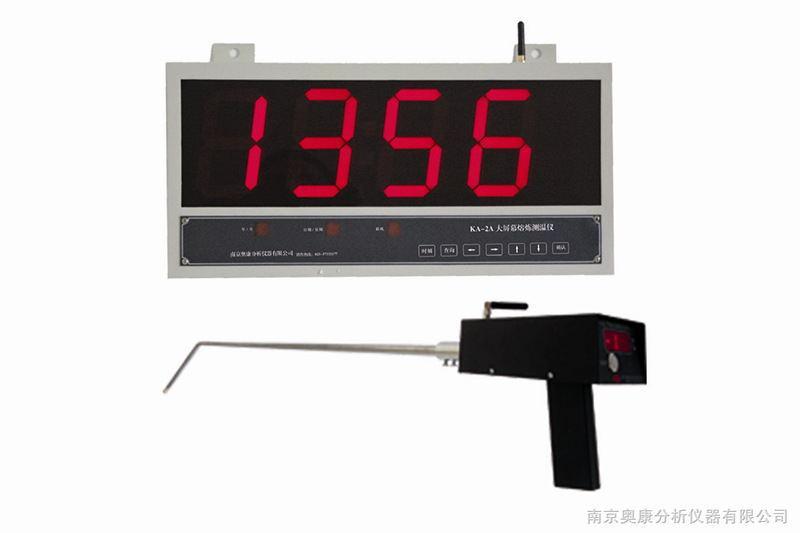大屏显示有线壁挂式金属溶液测温仪