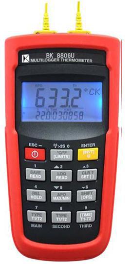 台湾贝克莱斯 BK8806U 多功能记录温度计