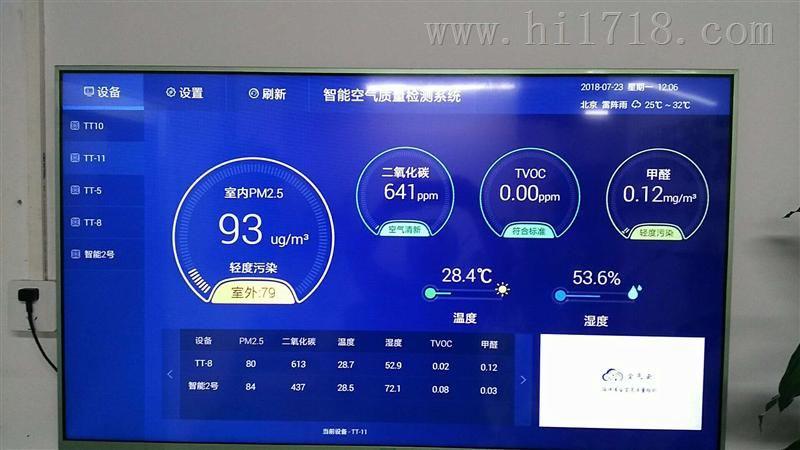 办公楼宇智能环境监测系统空气质量检测仪!WIFI大屏显示
