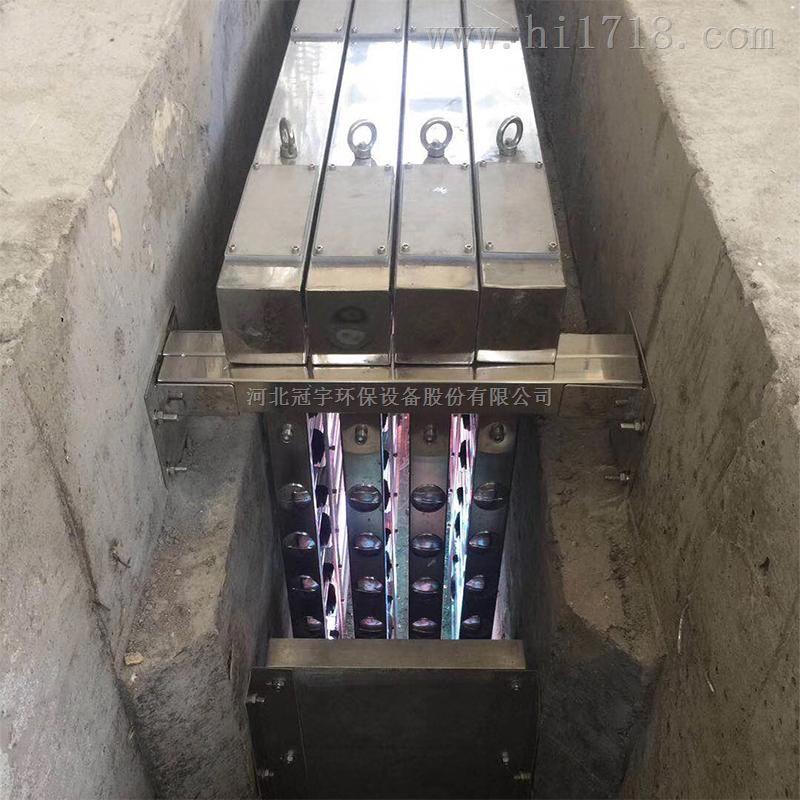 梅州污水紫外线消毒模块UV杀菌器污水厂1级A达标