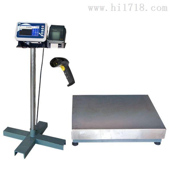 扫描条码或二维码称重并打印标签的电子秤
