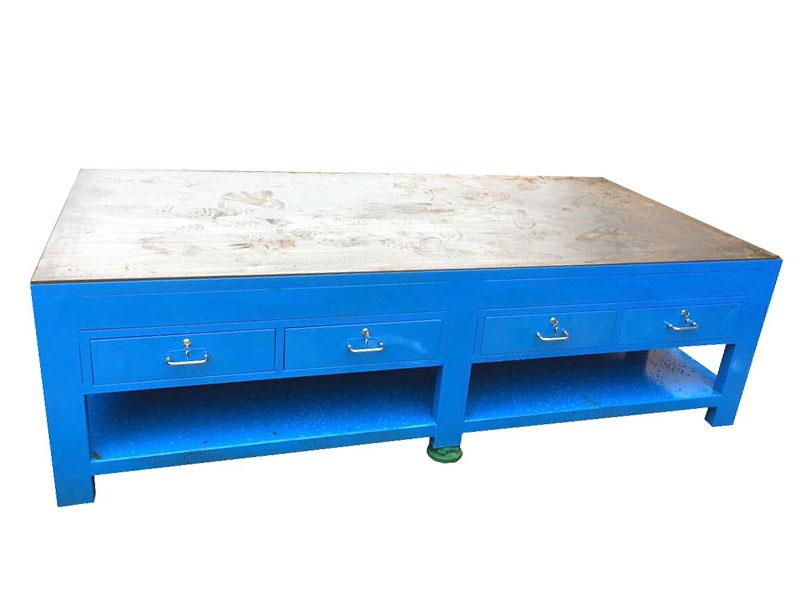 湖北重型钢板工作台 耐磨 钳工 飞模台