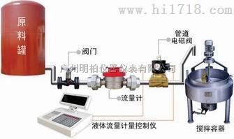 广州定量加水配件控制仪表流量计